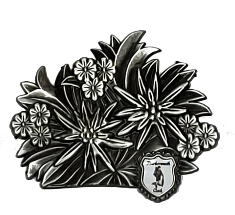 Magnet w/ Edelweiss Flowers & Clock Company Crest