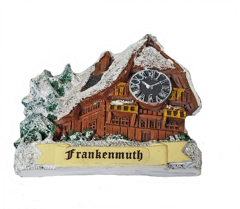 Magnet w/Bavarian House with Clock