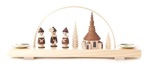 Candle Holder - Carolers & Seiffen Church