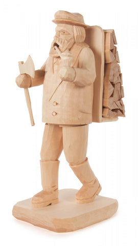 034/100/1 - Hand Carved Woodsman Smoker (Natural)