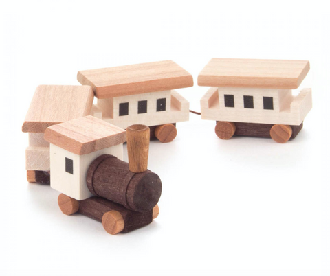 035/023 - Miniature Wooden Train (Natural)