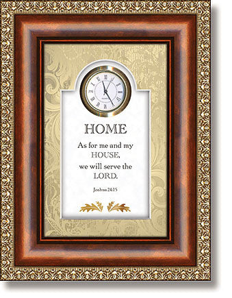05044 Home Joshua 24:15 Table Top Clock