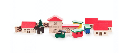 041/011 - Miniature Wooden Village