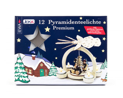 Tea Light Candles - Pyramidenteelichte Premium