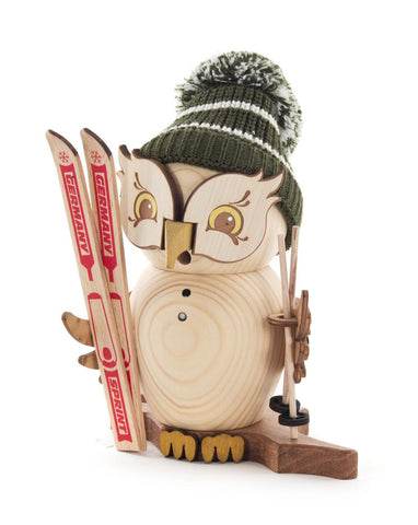 Smoker - Owl with Skis