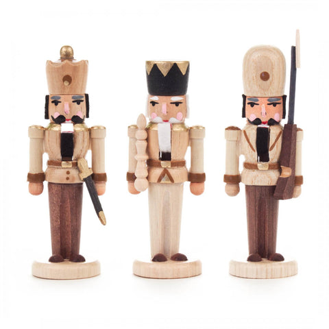 Nutcracker- Miniatures in Natural Set of 3