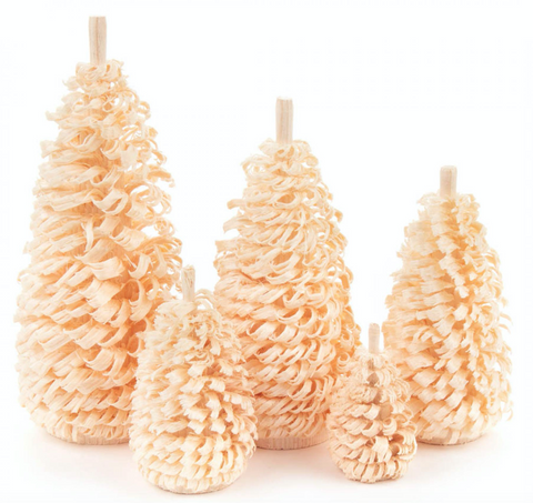 081/016N - Set of 5 Natural Christmas Trees