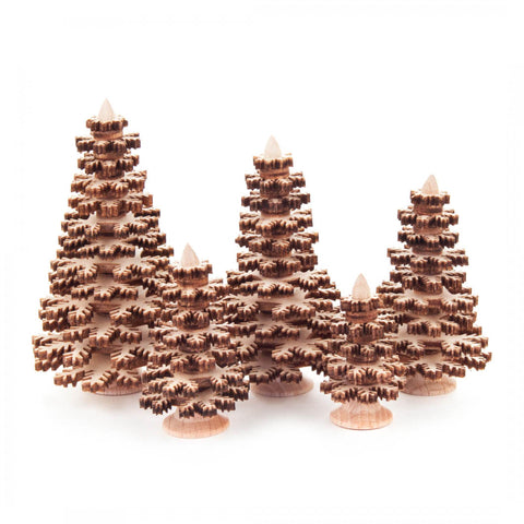 Wooden Trees Set of 5