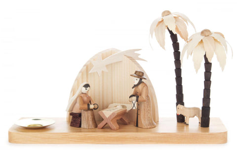 Candle Holder with Nativity