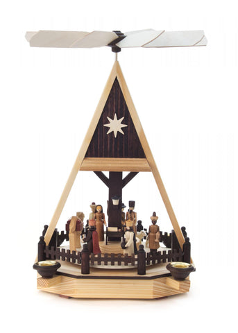 085/051N - Pyramid with Nativity Scene (Natural