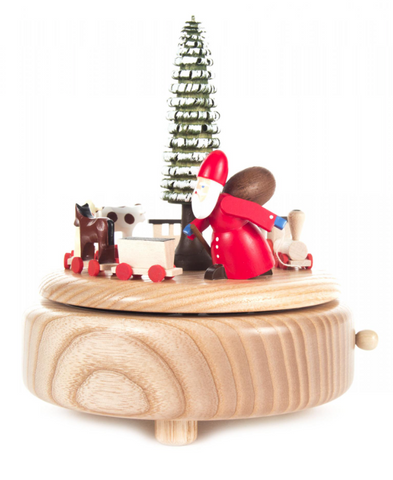 Music Box - Santa Pulling Train