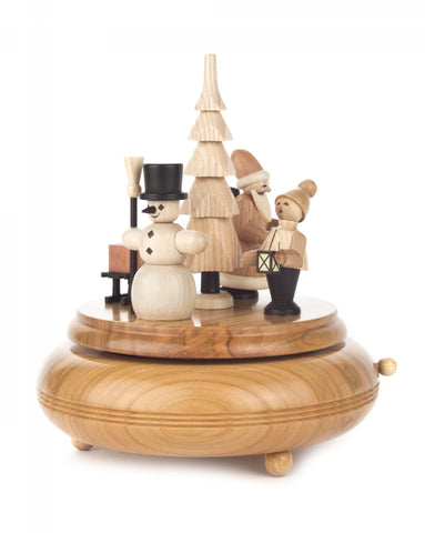 Music Box With Snowman and Carolers