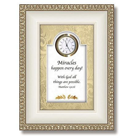 Miracles Table Top Clock