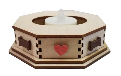 Dog Bone Tealight Base for K9 Cottages