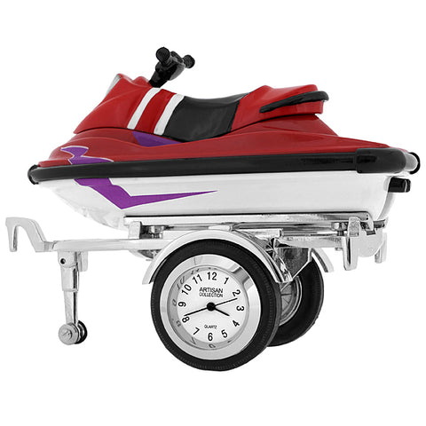 Jet Ski on Trailer Clock