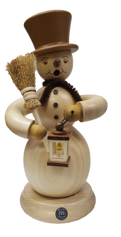 146/1031 - Smoker - Snowman with Broom & Lantern