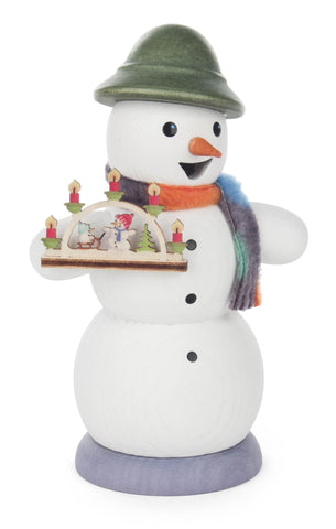 146/1267/26 - Smoker - Snowman with Candle Arch