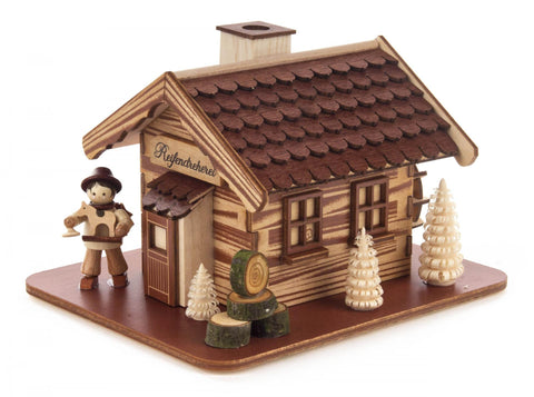 146/1861/2 - Smoker - Wood Turner's House with Figurine