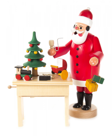 Smoker Santa with Music Box Table & Toys