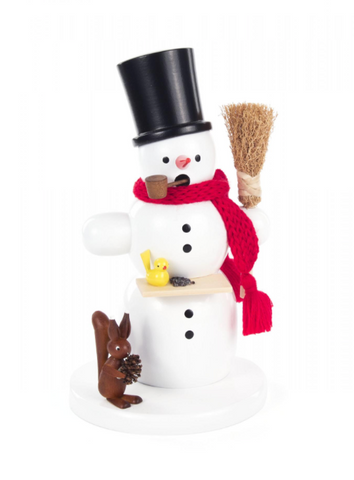 Smoker - Snowman with Squirrel