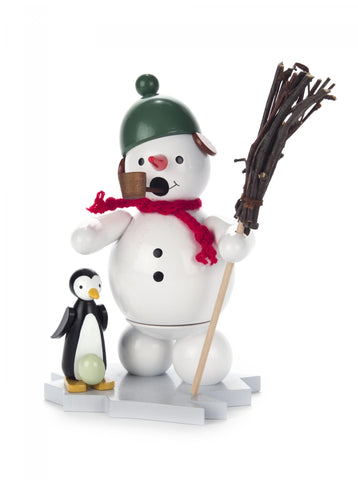 Smoker - Snowman with Penguin