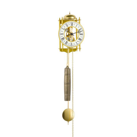 Hermle Skeleton Wall Clock - Brass