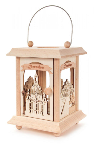 198/148 - Lantern Style Tealight Holder with Dresden Frauenkirche