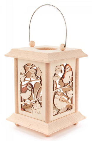 198/150 - Lantern Style Tealight Holder with Birds