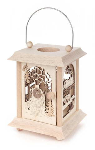 198/151 - Lantern Style Candle Holder with Train