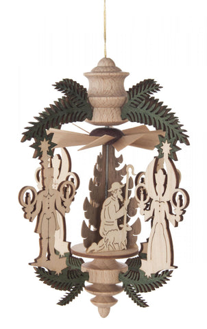 Ornament - Wooden German Pyramid with Nativity