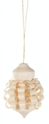 199/252/1 - Wood Chip Ball Ornament