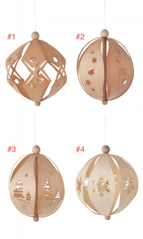 199/347 - Wooden Ball Ornaments