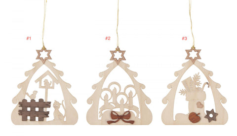 199/433 - Wooden Tree Ornaments (Sold Individually)
