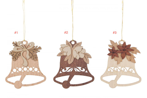 199/447 - Wooden Bell Ornaments (Sold Individually)