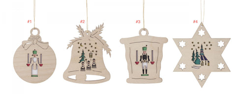 199/456 - Wooden Erzgebirge Ornaments - Sold Individually