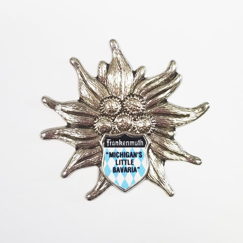 Walking Stick Badge w/ Edelweiss Flower