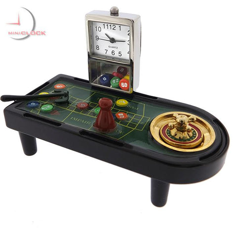 Roulette Table Mini Clock