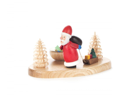 200/050 - Candle Holder with Santa & Trees (14mm)