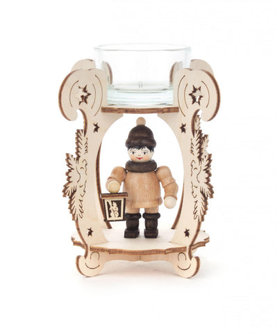 201/221 - Tealight Holder with Boy Holding Lantern