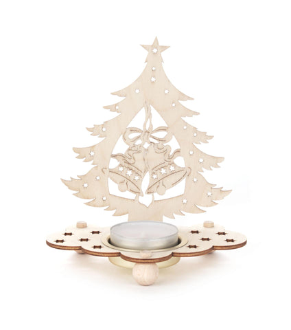 201/227 - Tealight Holder - Christmas Tree with Bells