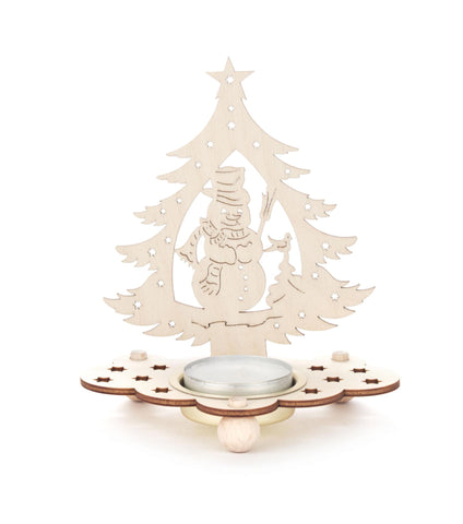 201/228 - Tealight Holder with Christmas Tree & Snowman