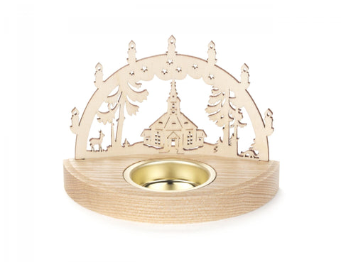 201/243/2 - Tealight Holder with Seiffen Church