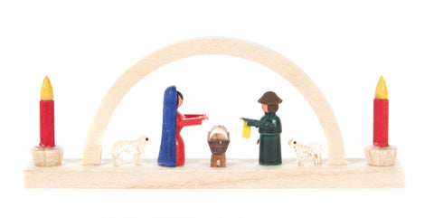 202/533/1 - Miniature Candle Arch with Nativity Scene