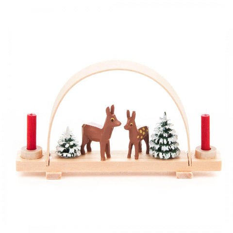 Candle Holder - Arch with Deer and Trees (Mini)