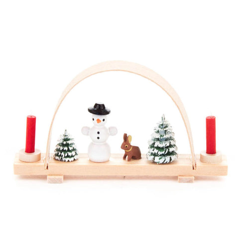 202/713 - Miniature Candle Holder/Arch with Snowman & Deer