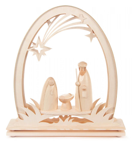 202/772 - Lighted Candle Arch with Nativity Scene