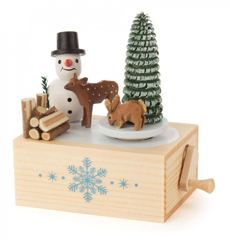Music Box Klimperkästchen Snowman Melody: Winter Wonderland