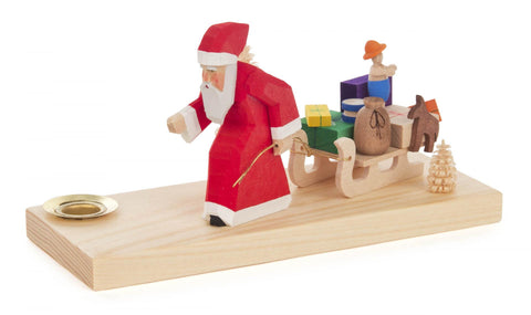 225/035 - Candle Holder - Santa with Sled