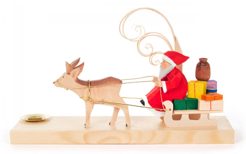 225/205 - Candle Holder - Santa & Sleigh with Gifts