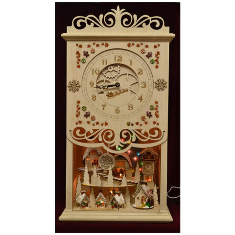 Gingerbread Mantel Clock